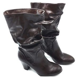 Rampage Elia Boots Slouch Brown Size 6